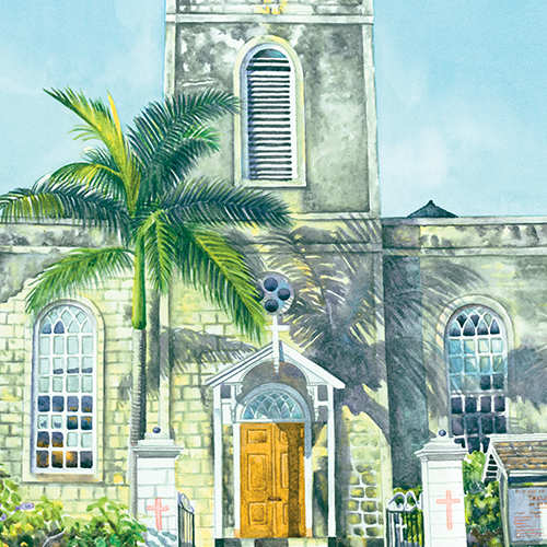 A Watercolour Tribute To Historic Jamaican Churches
