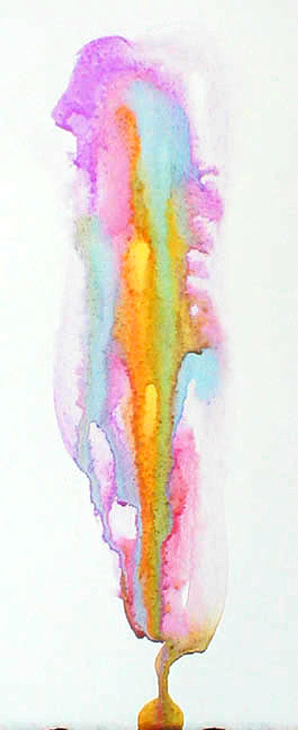 "Watercolor on paper - framed 8 5/8"" x 2"" - $299 USD"