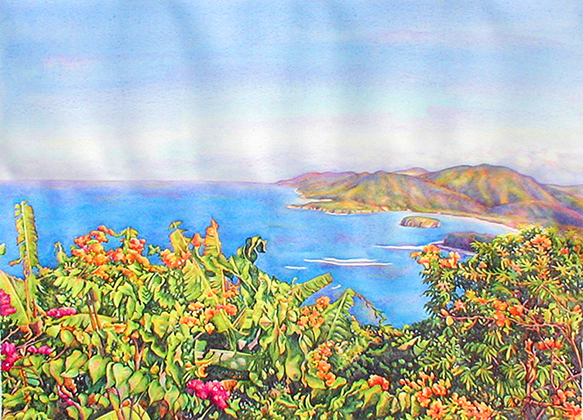 """Limited edition giclee print on watercolor paper: 20"""" x 15 ¾"""" - $225; USD 12"""" x 9 3/8"""" - $135 USD"""