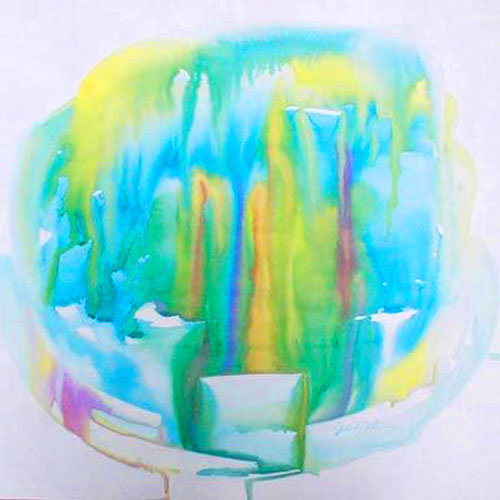 "Ethereal watercolor on paper - 24"" x 20 ½"" – SOLD"