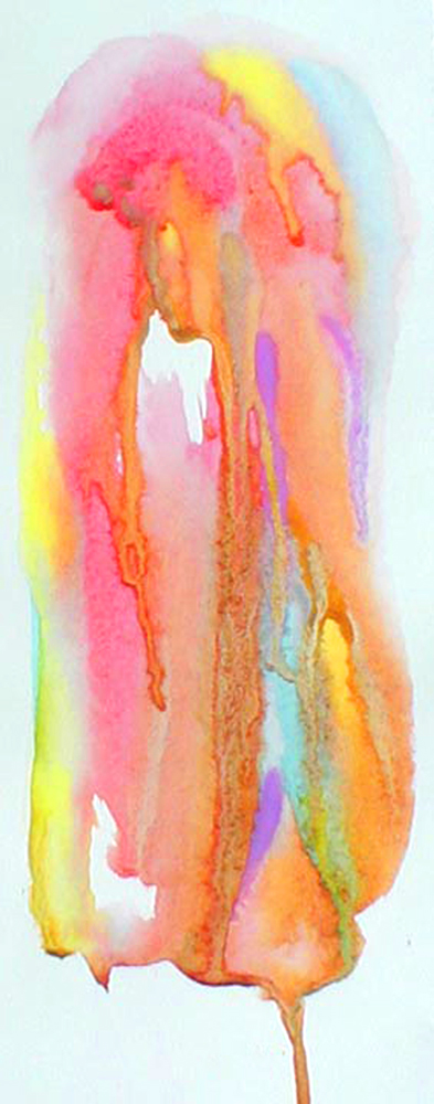 """Ethereal watercolor on paper - 9 ½"""" x 5"""" – SOLD"""