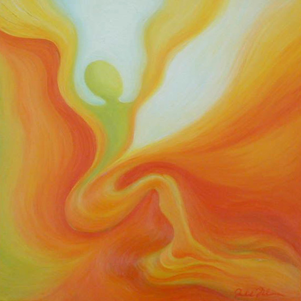 """Oil on canvas - 16 1/2"""" x 16 1/2"""" - SOLD"""