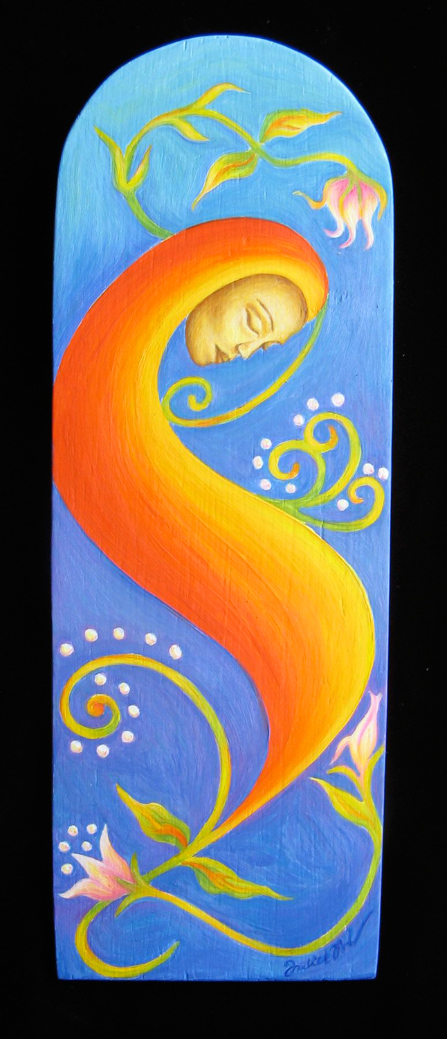 "Oil on wood - 11 3/4"" x 4"" - SOLD"