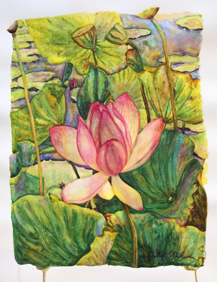 "watercolor on paper - 12 1/4"" x 10"" - Sold"