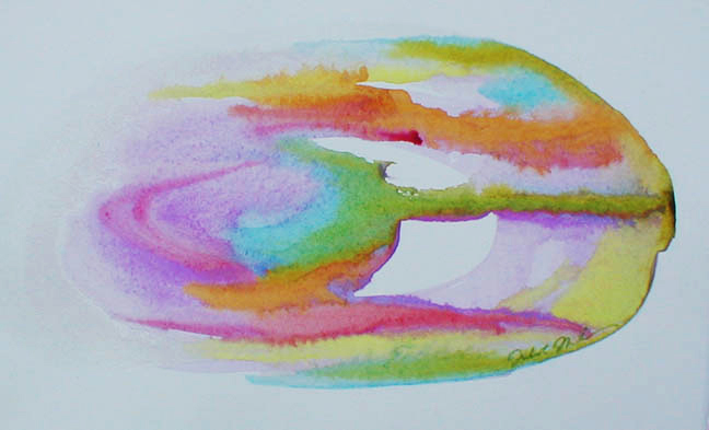 "watercolor on paper - 7"" x 4 "" - Sold"