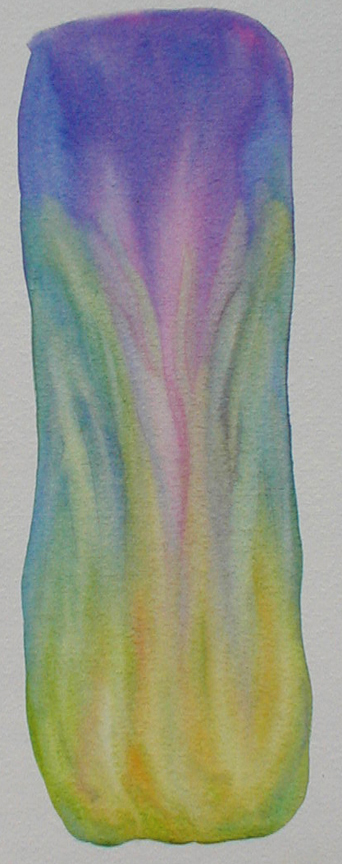 "watercolor on paper - 8"" x 2 3/4"" - Sold"