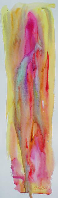 "watercolor on paper - 8 1/2"" x 3"" - Sold"